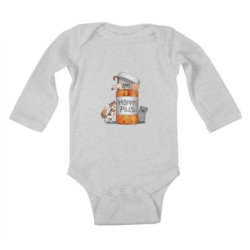 Happy Pills Kids Baby Longsleeve Bodysuit by The Art of Helenasia