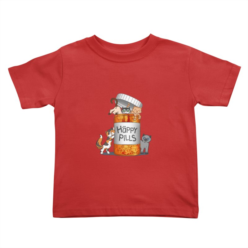 Happy Pills Kids Toddler T-Shirt by The Art of Helenasia
