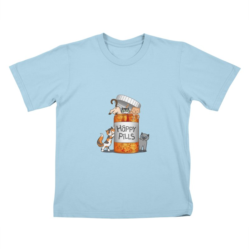 Happy Pills Kids T-Shirt by The Art of Helenasia