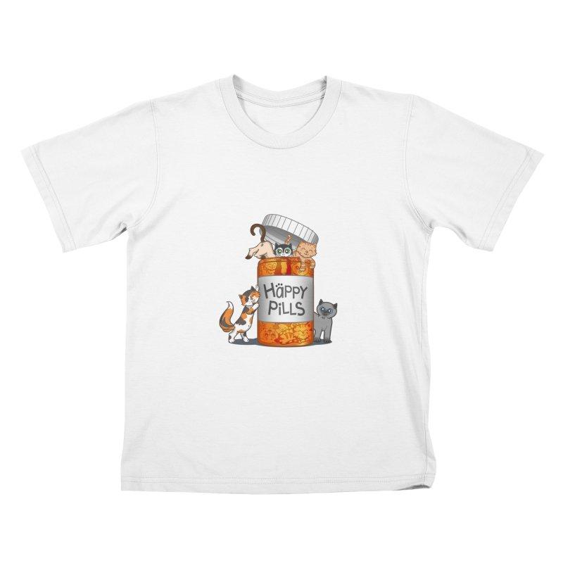 Happy Pills Kids T-Shirt by The Art of Helenasia