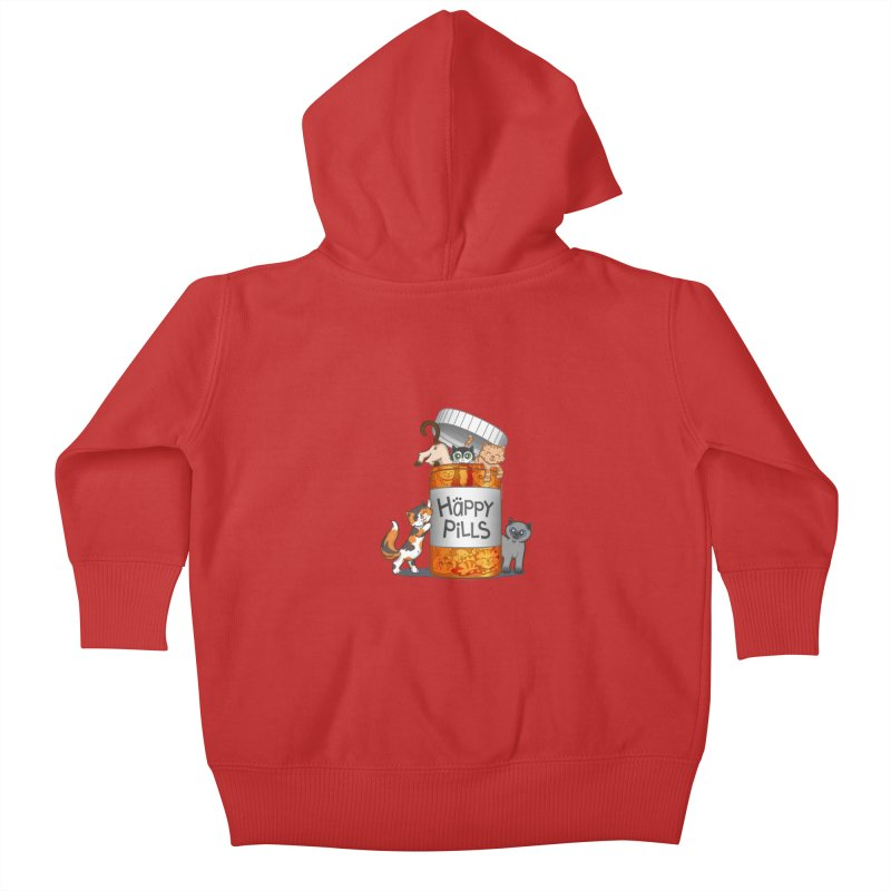 Happy Pills Kids Baby Zip-Up Hoody by The Art of Helenasia