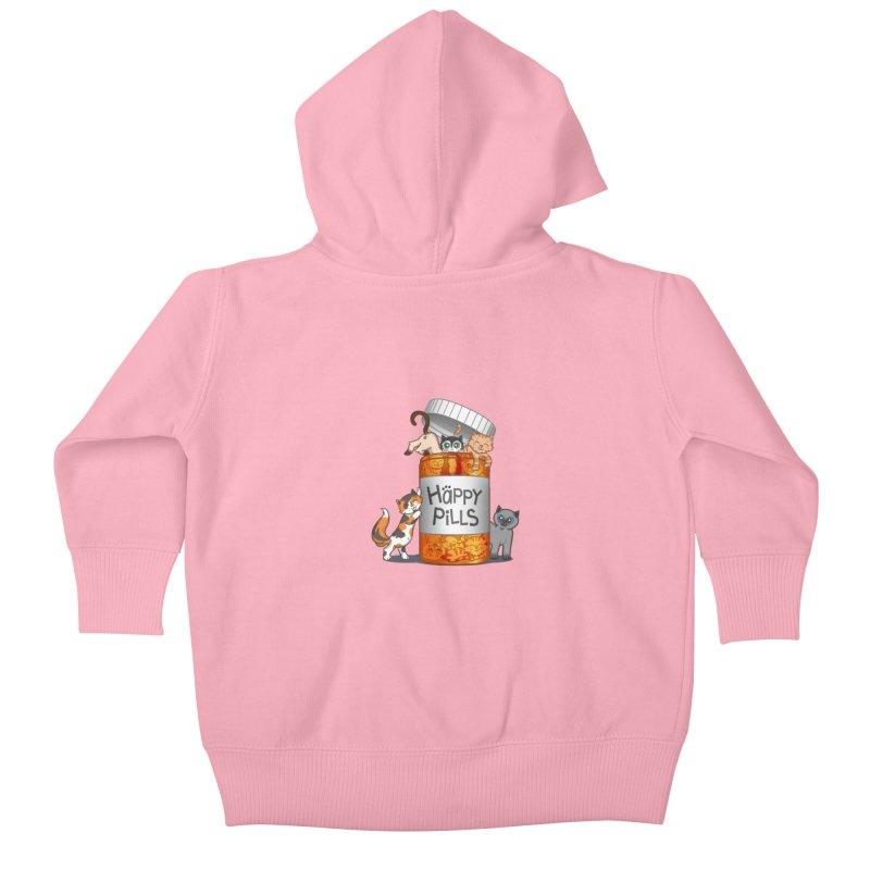 Happy Pills Kids Baby Zip-Up Hoody by The Art of Helenasia
