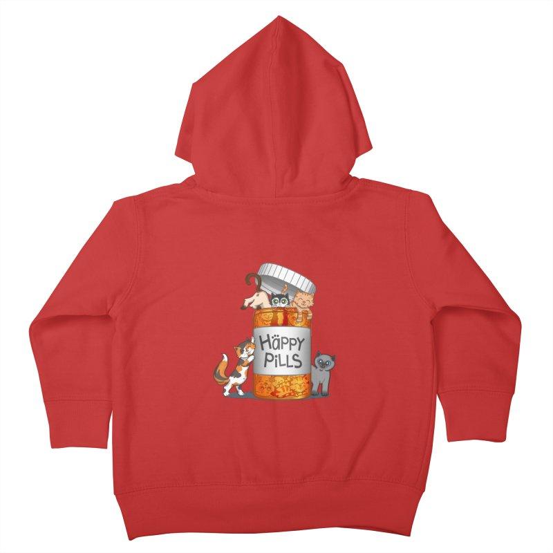 Happy Pills Kids Toddler Zip-Up Hoody by The Art of Helenasia
