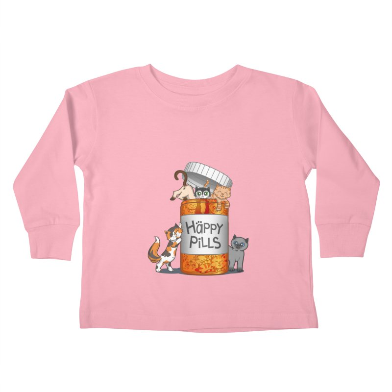 Happy Pills Kids Toddler Longsleeve T-Shirt by The Art of Helenasia