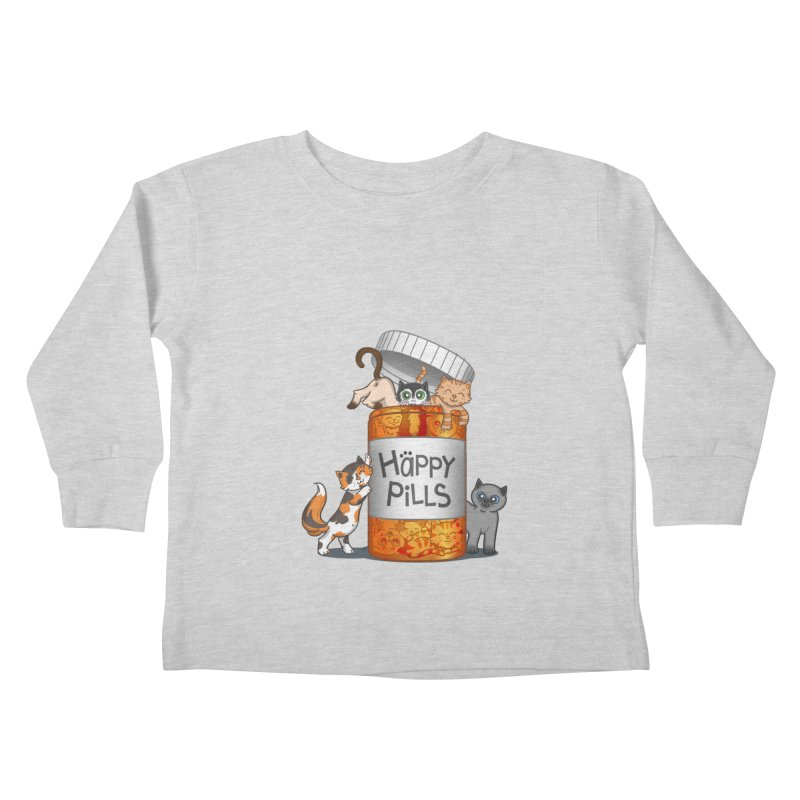 Happy Pills Kids Toddler Longsleeve T-Shirt by The Art of Helenasia
