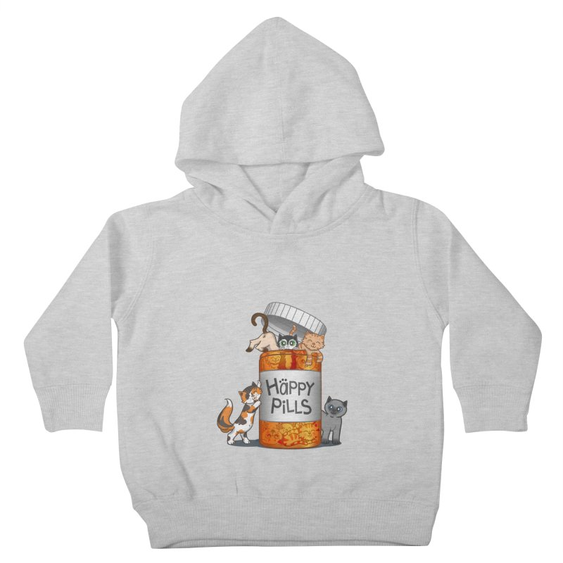 Happy Pills Kids Toddler Pullover Hoody by The Art of Helenasia