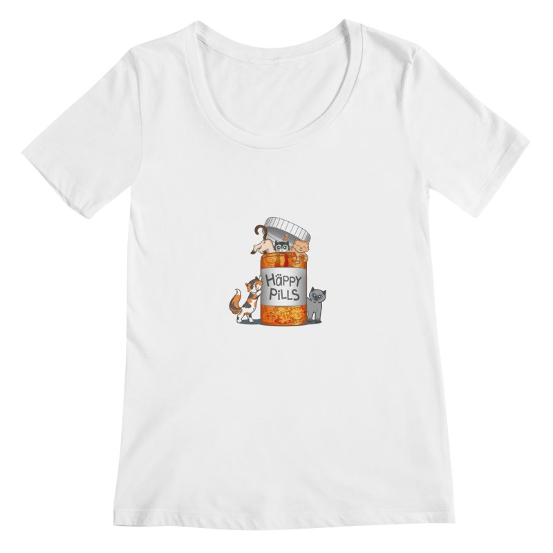 Happy Pills Women's Scoopneck by The Art of Helenasia