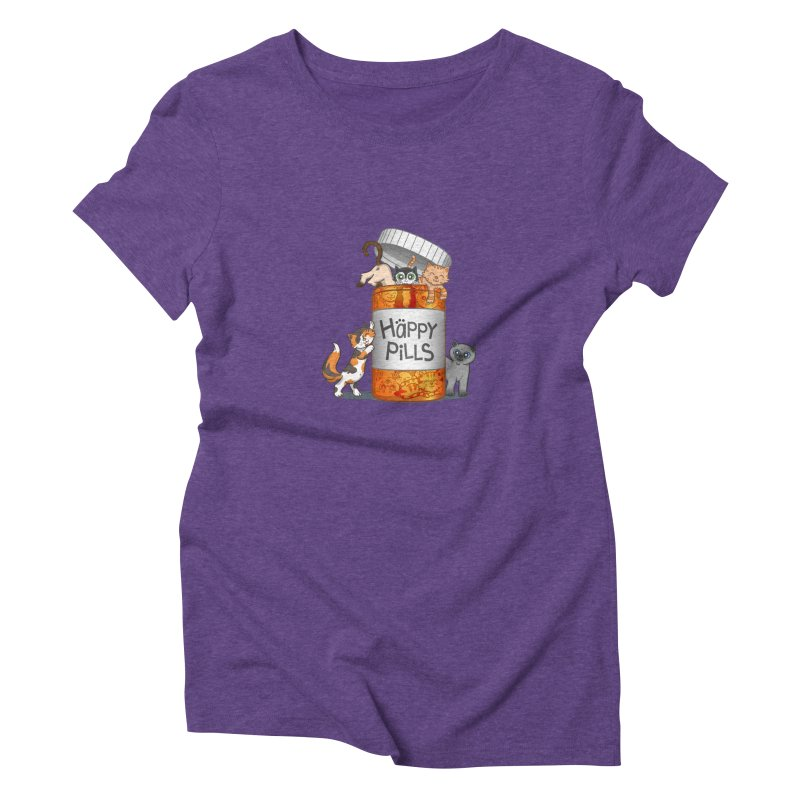 Happy Pills Women's Triblend T-shirt by The Art of Helenasia