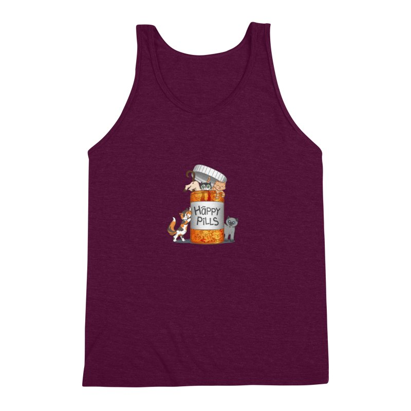 Happy Pills Men's Triblend Tank by The Art of Helenasia
