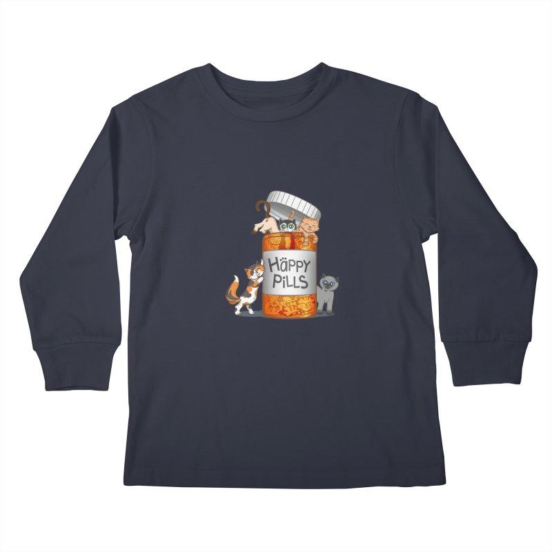 Happy Pills Kids Longsleeve T-Shirt by The Art of Helenasia