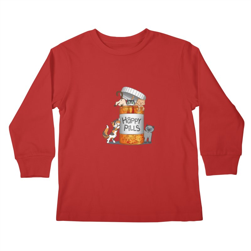 Happy Pills Kids Longsleeve T-Shirt by The Art of Helenasia