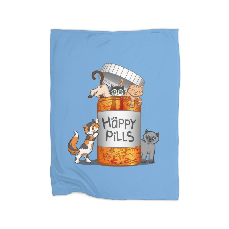 Happy Pills Home Blanket by The Art of Helenasia