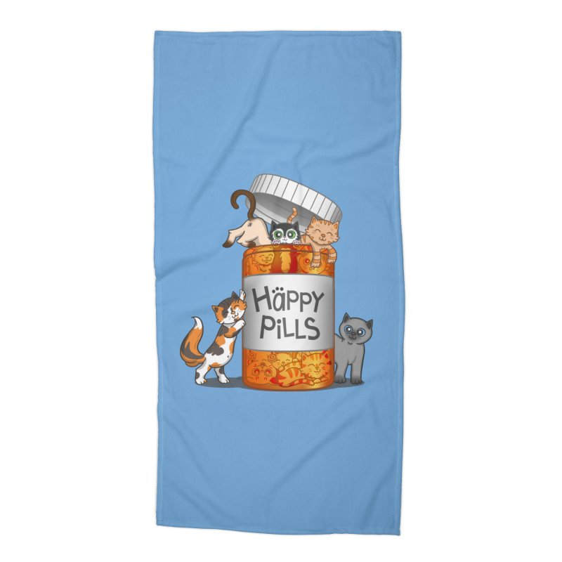 Happy Pills Accessories Beach Towel by The Art of Helenasia