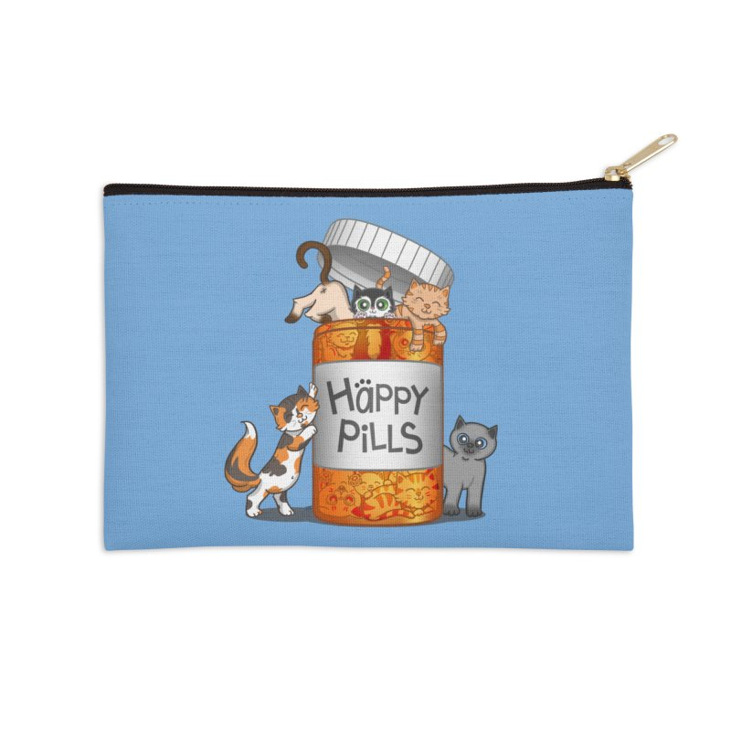 Happy Pills Accessories Zip Pouch by The Art of Helenasia