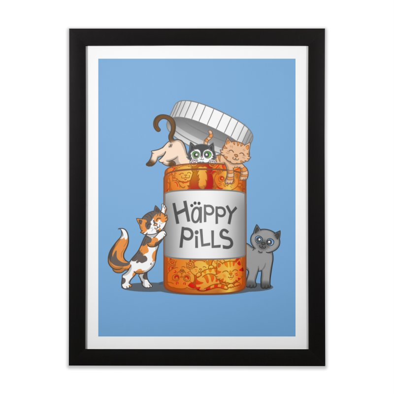 Happy Pills Home Framed Fine Art Print by The Art of Helenasia