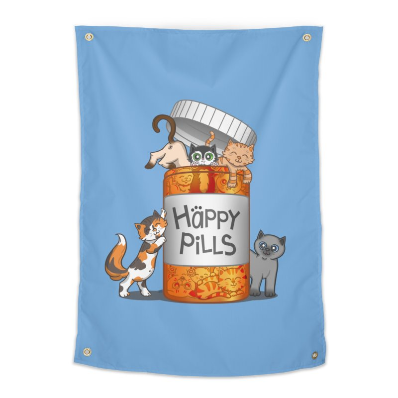 Happy Pills Home Tapestry by The Art of Helenasia