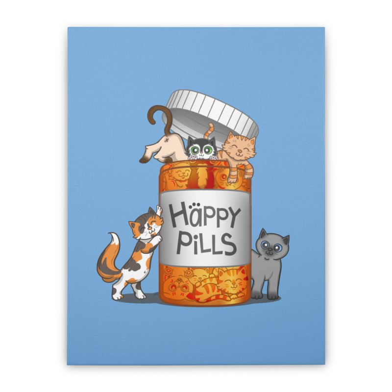Happy Pills Home Stretched Canvas by The Art of Helenasia