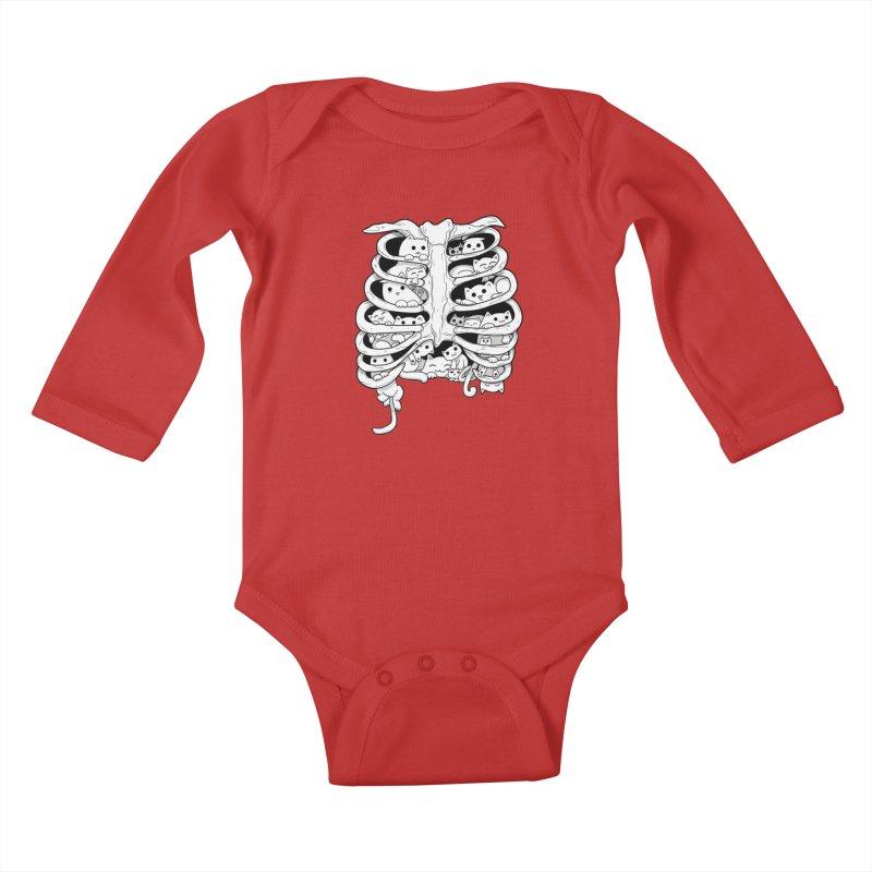 C.A.T.S. Kids Baby Longsleeve Bodysuit by The Art of Helenasia