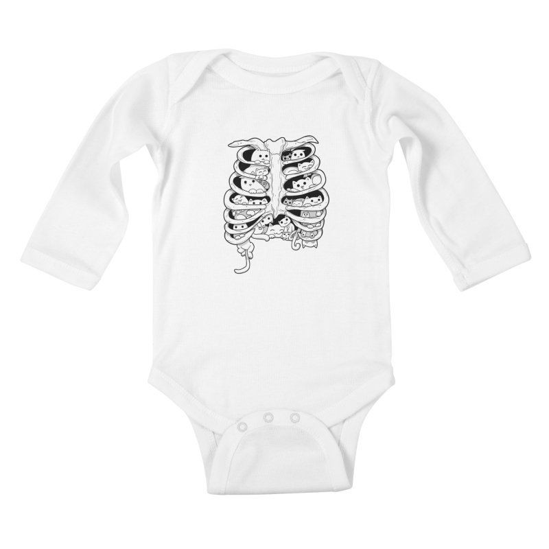 C.A.T.S. Kids Baby Longsleeve Bodysuit by The Art of Helenasia