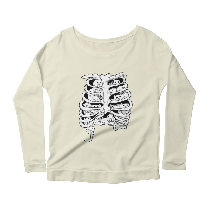 C.A.T.S. Women's Longsleeve Scoopneck  by The Art of Helenasia
