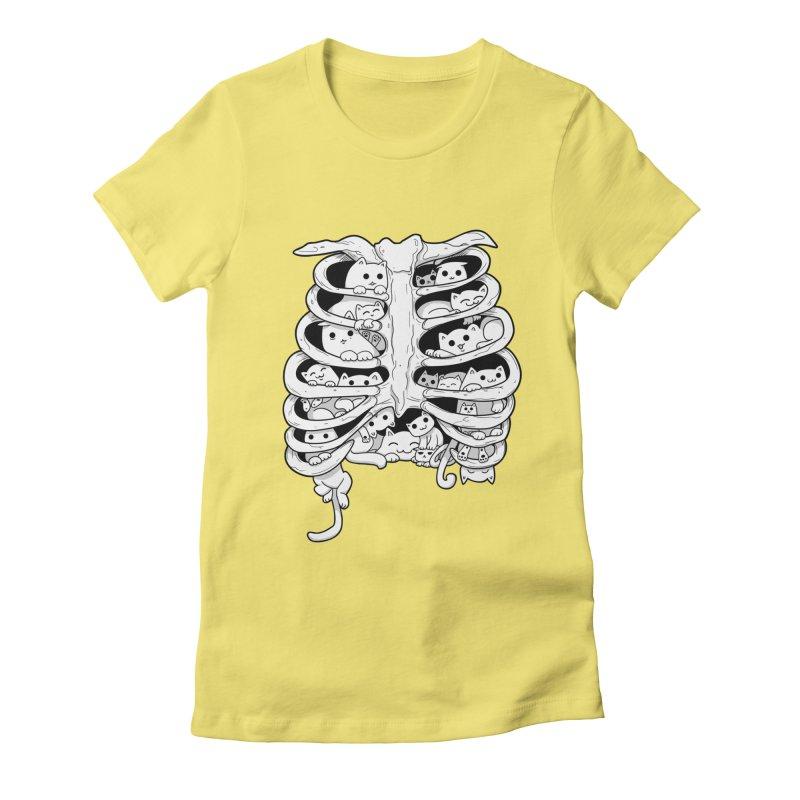 C.A.T.S. Women's Fitted T-Shirt by The Art of Helenasia