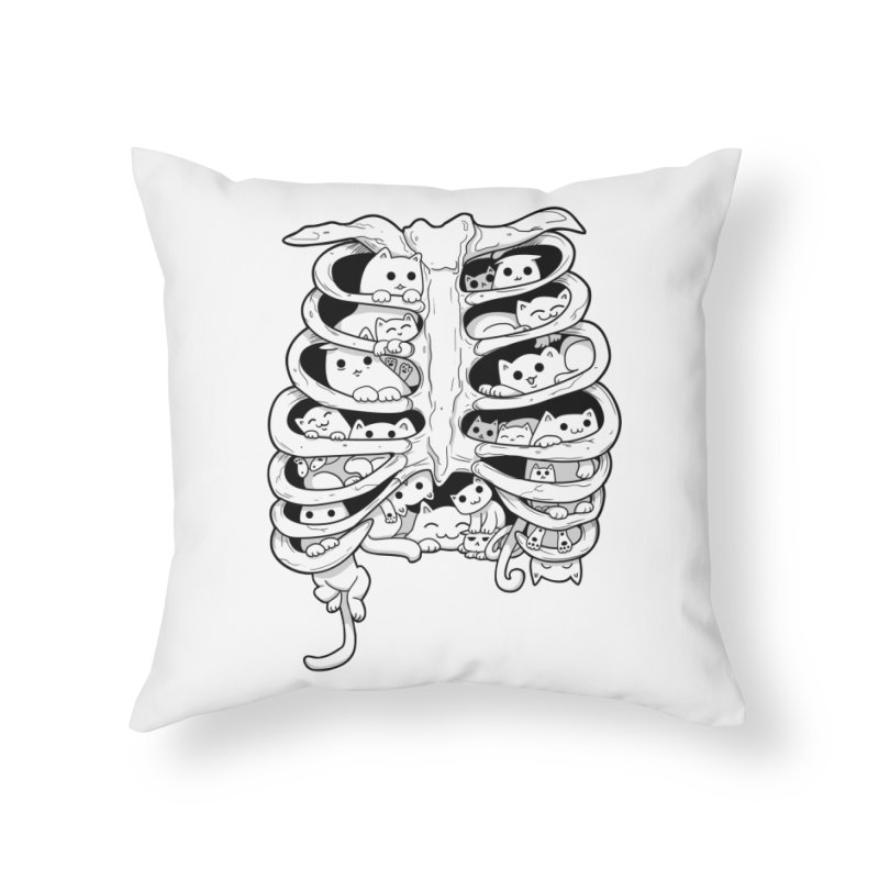 C.A.T.S. Home Throw Pillow by The Art of Helenasia
