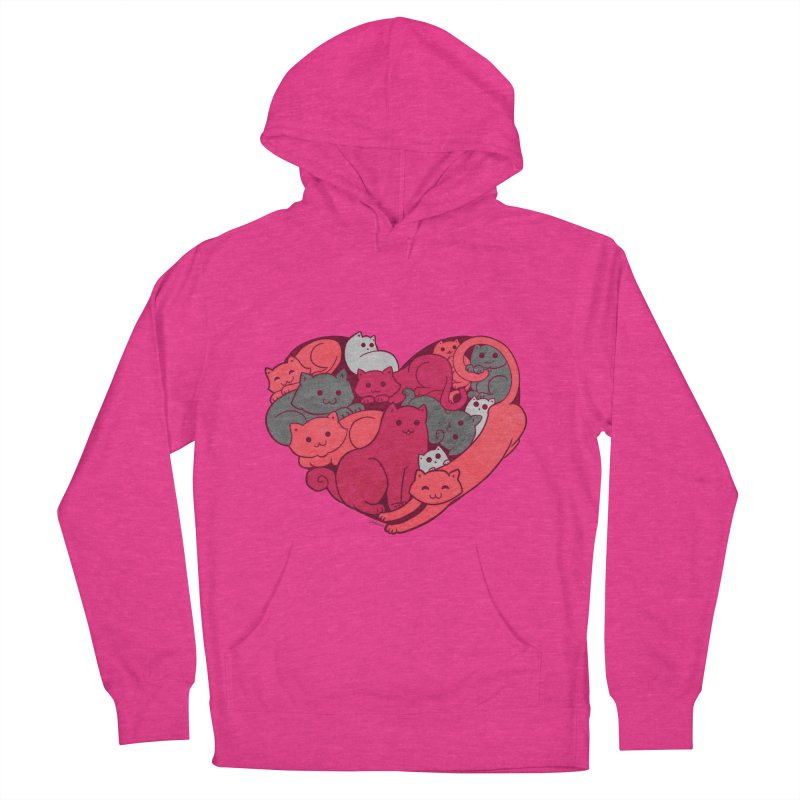 Purrfect Love Women's Pullover Hoody by The Art of Helenasia