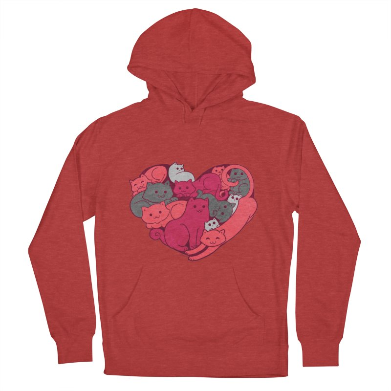 Purrfect Love Men's Pullover Hoody by The Art of Helenasia