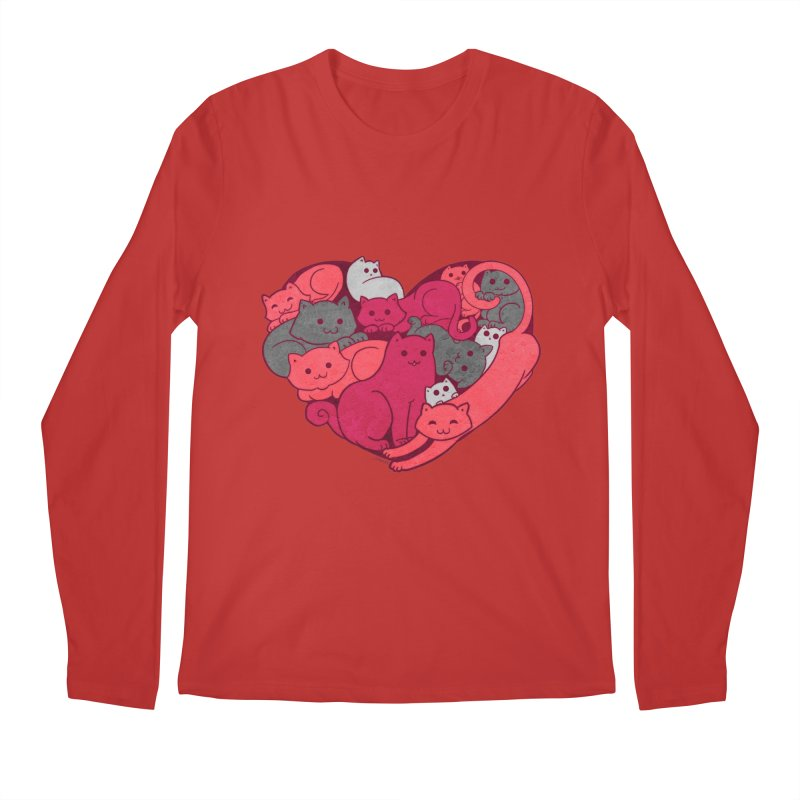 Purrfect Love Men's Longsleeve T-Shirt by The Art of Helenasia