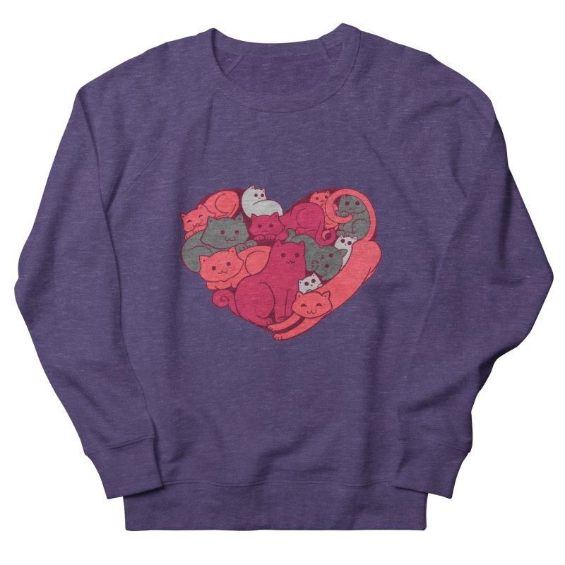 Purrfect Love Men's Sweatshirt by The Art of Helenasia