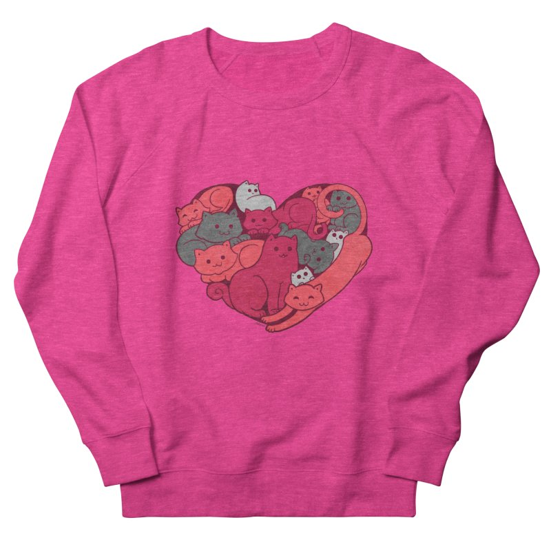 Purrfect Love Men's Sweatshirt by The Art of Helenasia