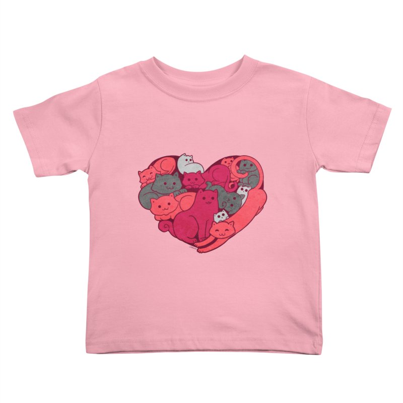 Purrfect Love Kids Toddler T-Shirt by The Art of Helenasia
