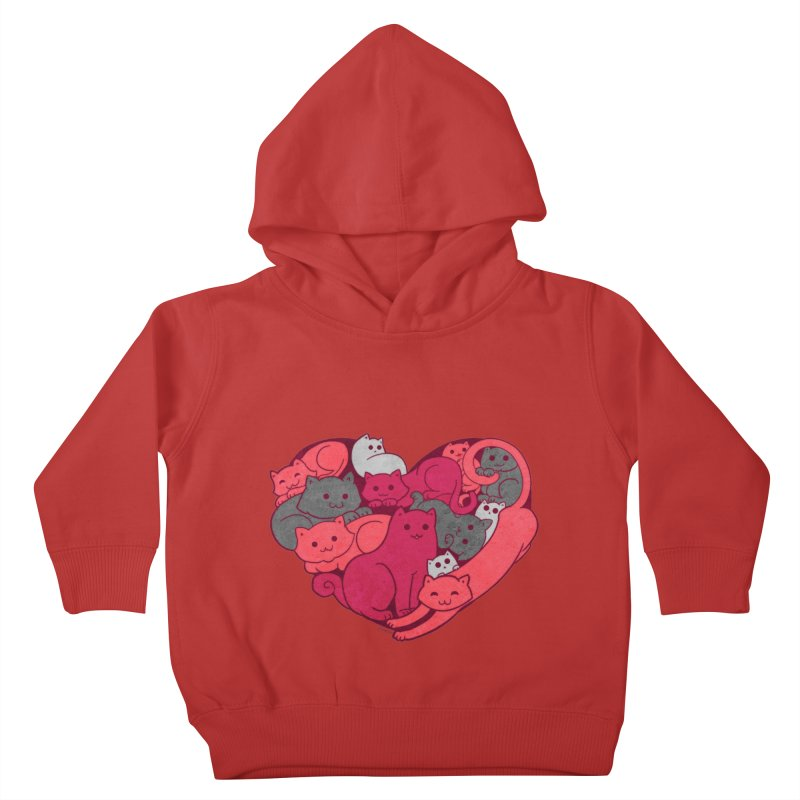 Purrfect Love Kids Toddler Pullover Hoody by The Art of Helenasia
