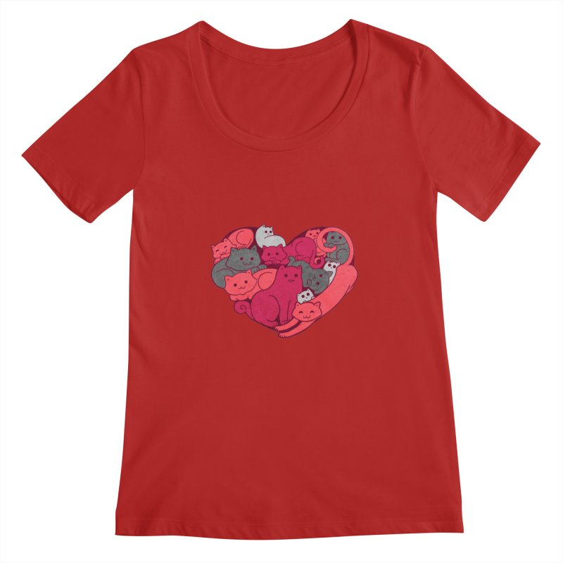 Purrfect Love Women's Scoopneck by The Art of Helenasia