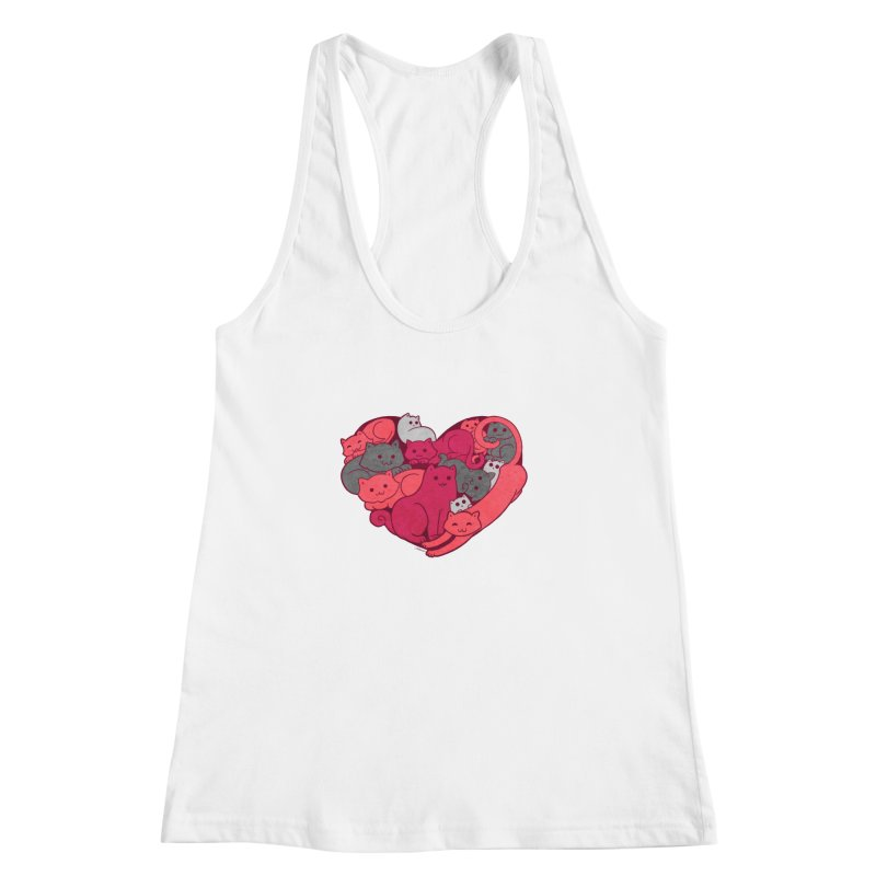 Purrfect Love Women's Racerback Tank by The Art of Helenasia