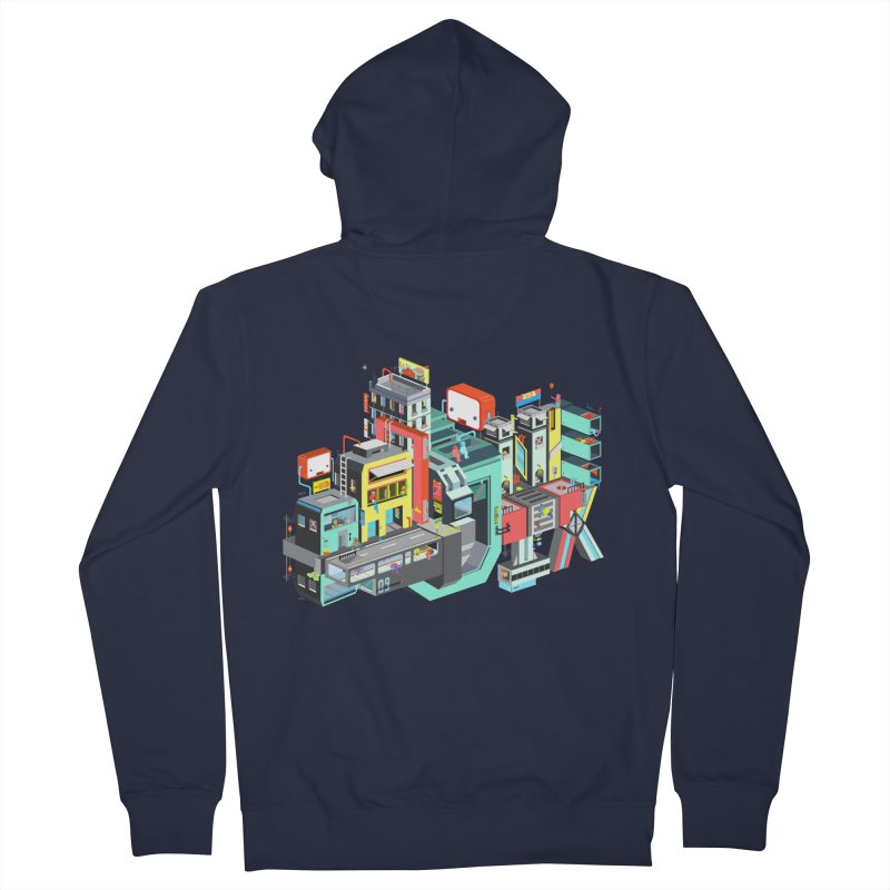 Next Stop Men's Zip-Up Hoody by Helenkaur's Artist Shop