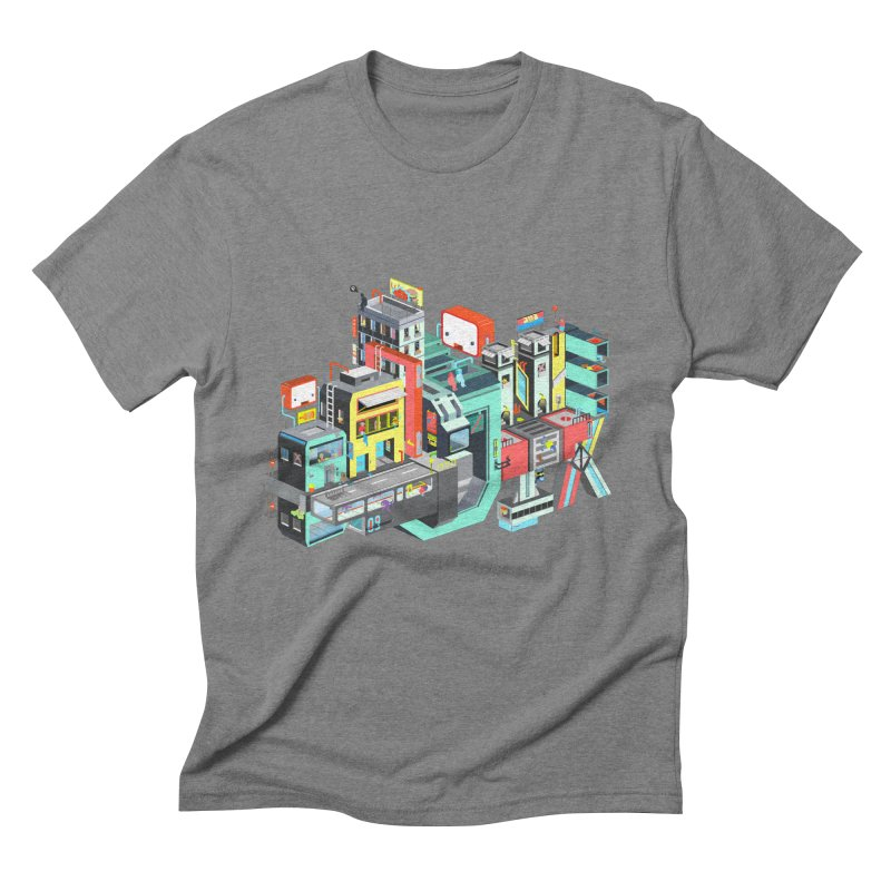 Next Stop Men's Triblend T-shirt by Helenkaur's Artist Shop