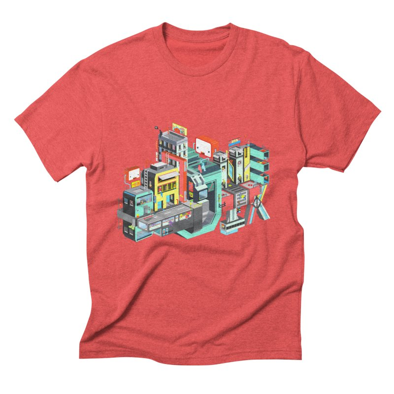 Next Stop Men's Triblend T-Shirt by Helenkaur's Artist Shop