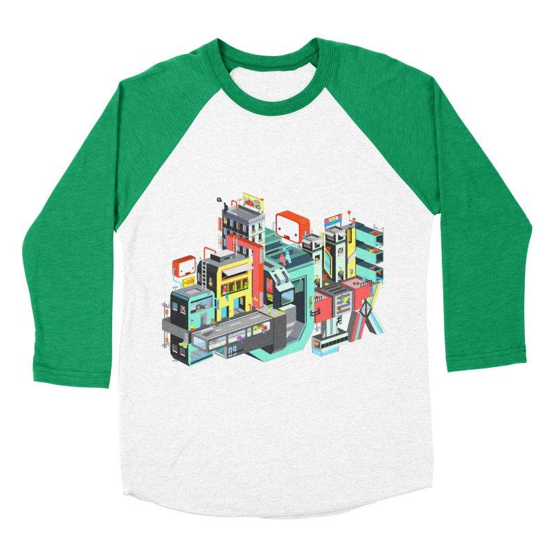 Next Stop Men's Baseball Triblend T-Shirt by Helenkaur's Artist Shop