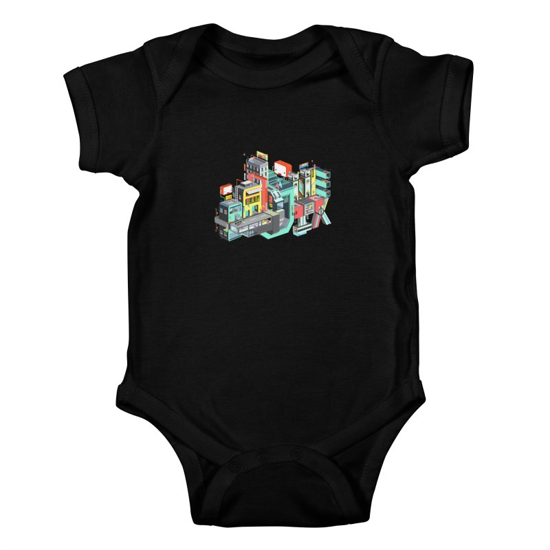 Next Stop Kids Baby Bodysuit by Helenkaur's Artist Shop