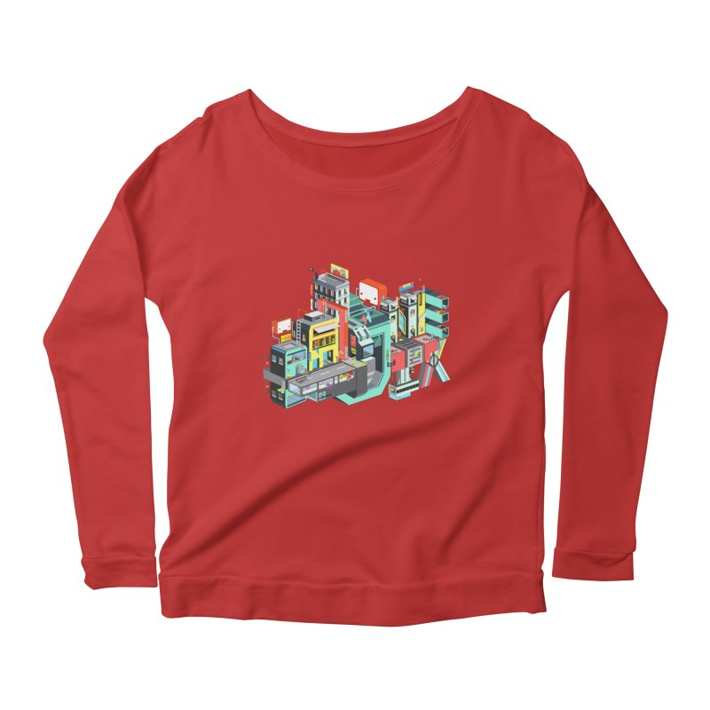 Next Stop Women's Longsleeve Scoopneck  by Helenkaur's Artist Shop