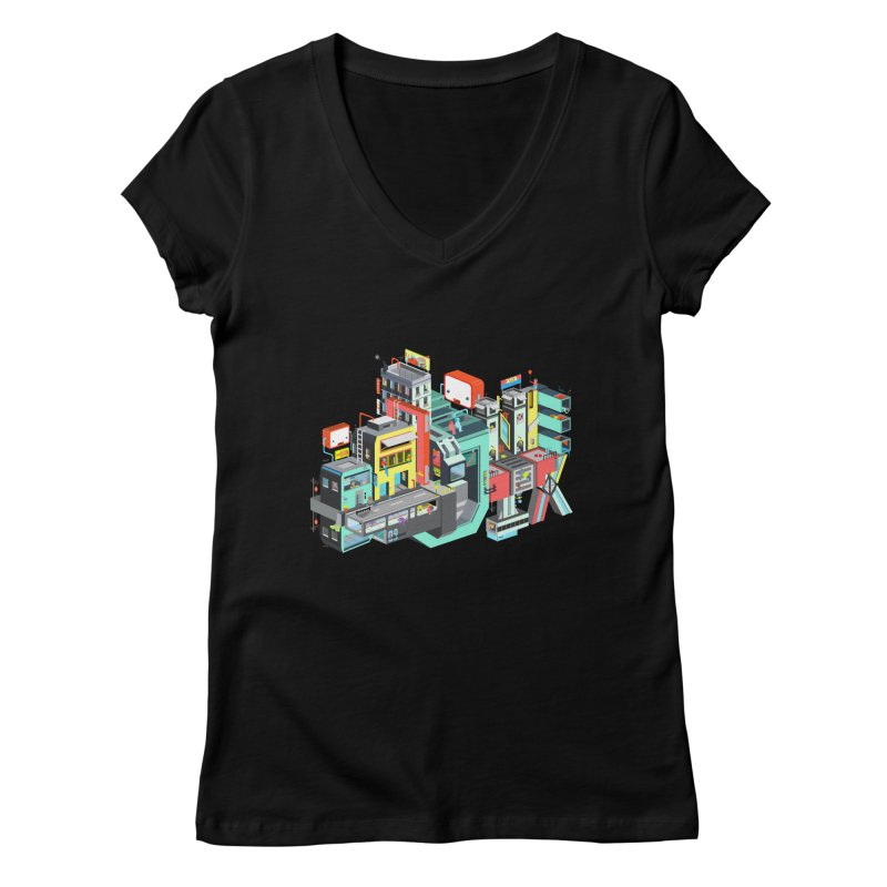 Next Stop Women's V-Neck by Helenkaur's Artist Shop