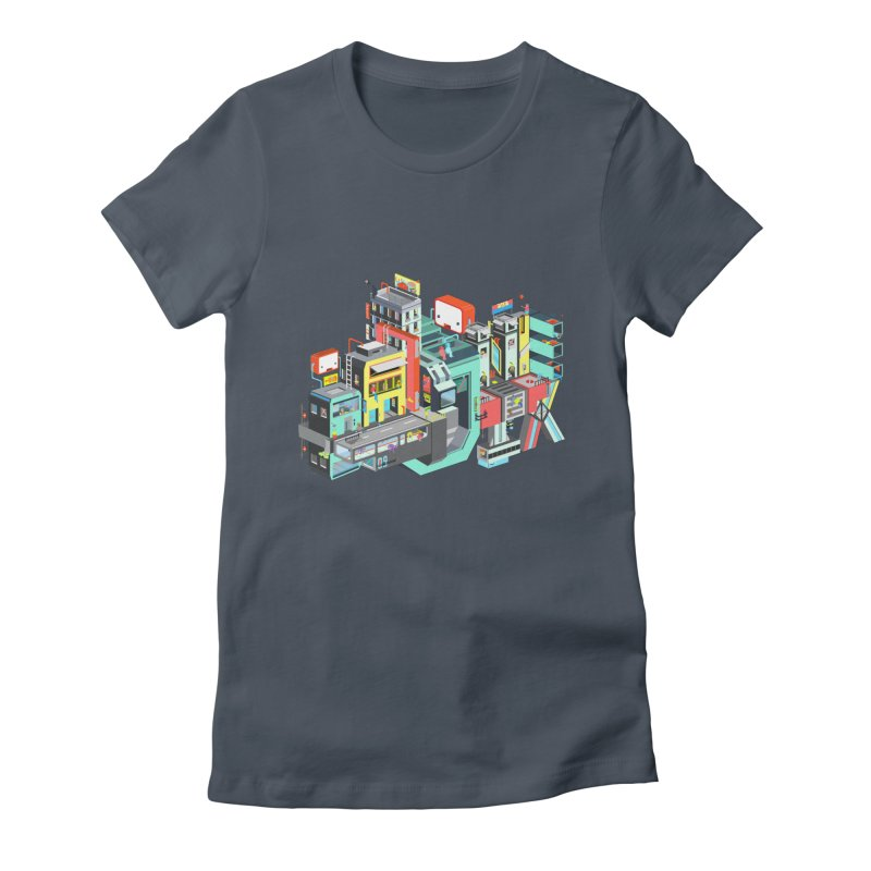 Next Stop Women's Fitted T-Shirt by Helenkaur's Artist Shop