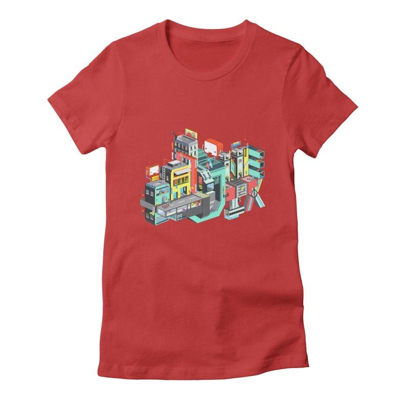 Next Stop Women's Fitted T-Shirt by Helenkaur's Artist Shop