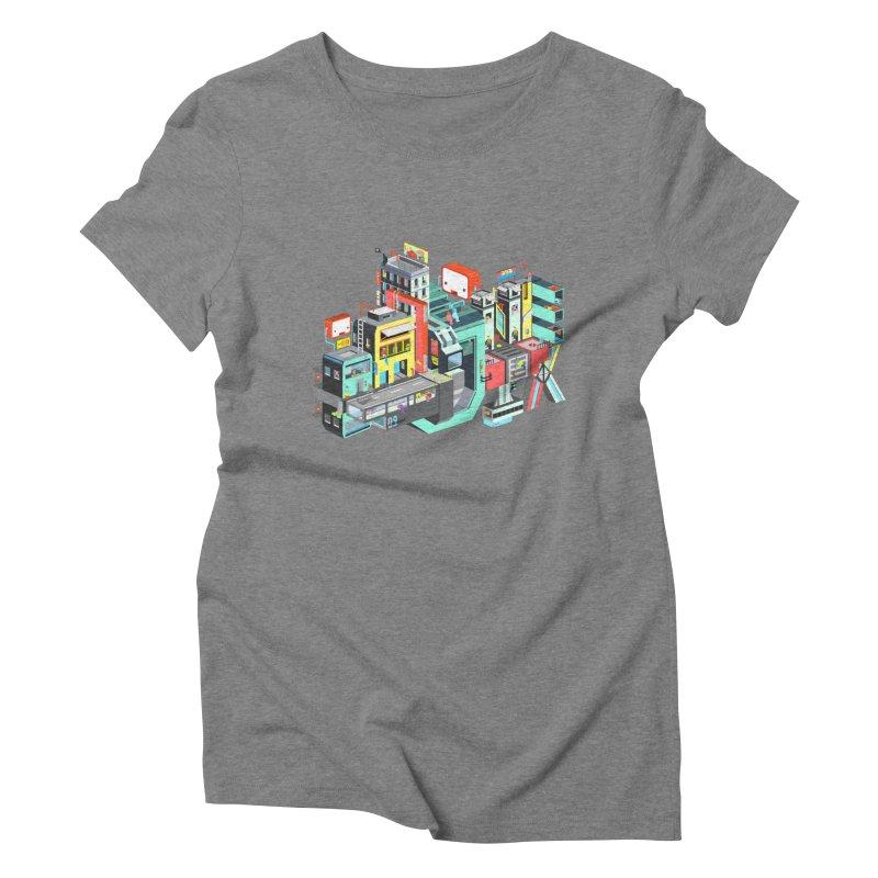Next Stop Women's Triblend T-shirt by Helenkaur's Artist Shop