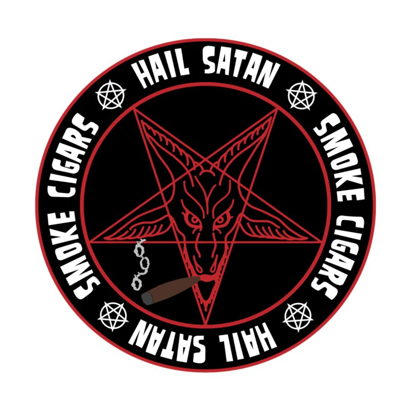 Hellfire Smokers Club - Smoke Cigars Hail Satan Men's Pullover Hoody by hellfiresmokersclub's Artist Shop