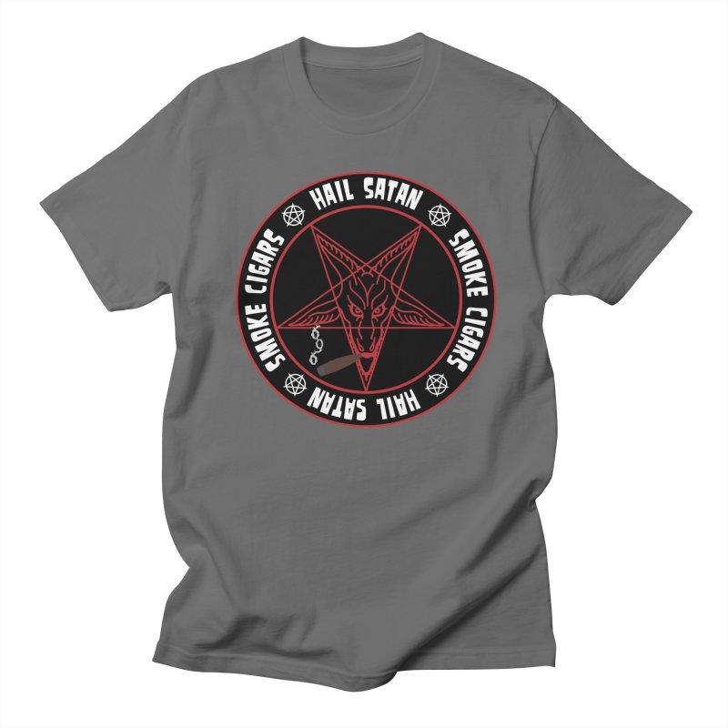 Hellfire Smokers Club - Smoke Cigars Hail Satan Men's T-Shirt by hellfiresmokersclub's Artist Shop