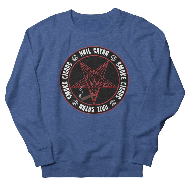 Hellfire Smokers Club - Smoke Cigars Hail Satan Men's Sweatshirt by hellfiresmokersclub's Artist Shop