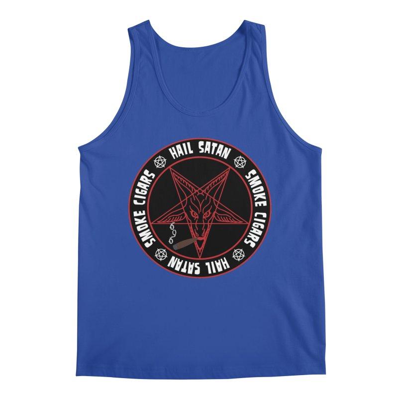 Hellfire Smokers Club - Smoke Cigars Hail Satan Men's Tank by hellfiresmokersclub's Artist Shop