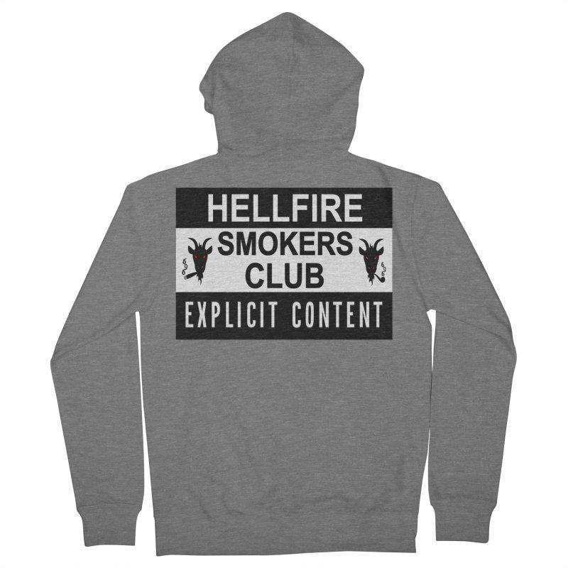 Hellfire Smokers Club - Explicit Content Women's Zip-Up Hoody by hellfiresmokersclub's Artist Shop